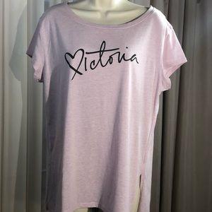 Victorias Secret Top Pajama Pink Mauve Size M.
